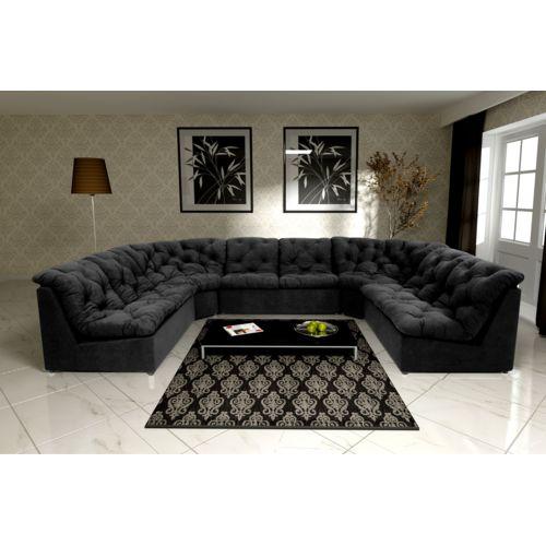 Modern Sofa Canapé Clac noir modulable 372cm x 83cm x 253cm