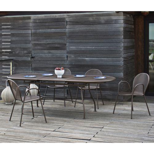 Oasi by Emu Salon de jardin avec table extensible 180/240cm et 4