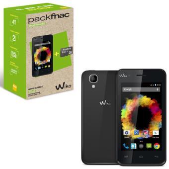 votre Smartphone Pack Fnac Wiko Sunset, Double SIM, 4 Go, Noir + Carte