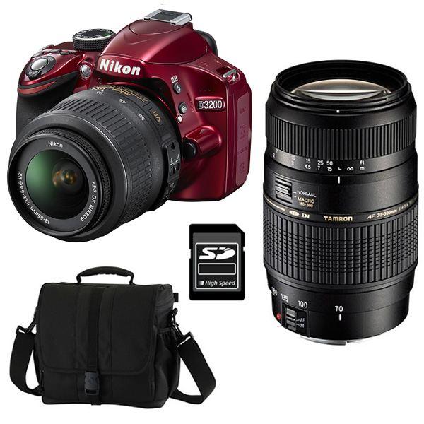 NIKON D3200 ROUGE + Objectif AF S DX 18 55mm 3,? Achat / Vente