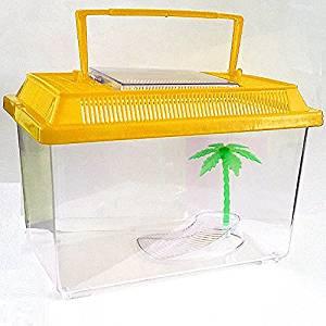 CrazyGadget Aquarium/vivarium en plastique avec poignée