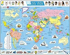 Bigjigs Toys Carte du Monde Puzzle: Jeux et Jouets