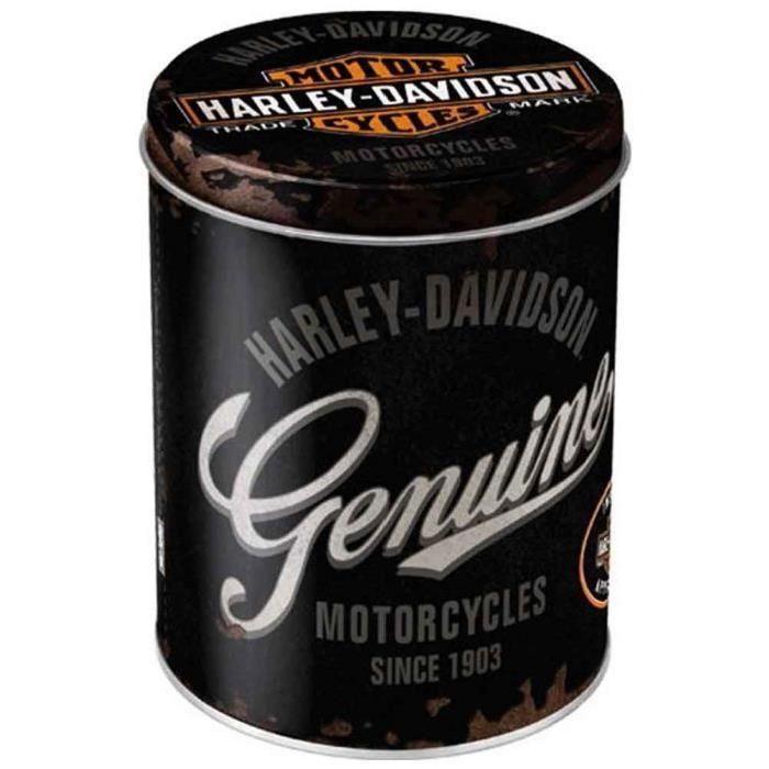 Boite Harley Davidson noire Achat / Vente boite de rangement Métal