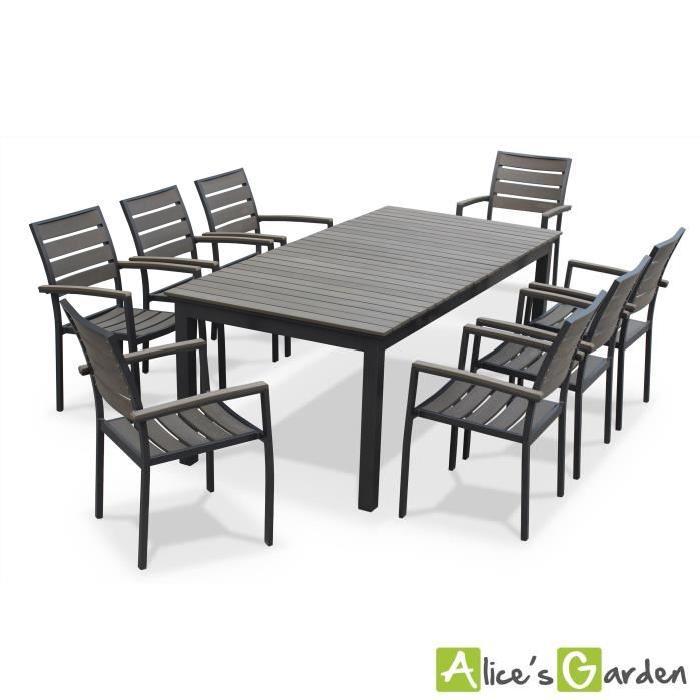 de jardin 8 places extensible Achat / Vente salon de jardin Table de