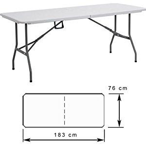 Table camping pliante 183 cm Table valise jardin pliable Aluminium
