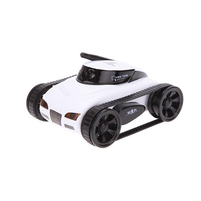 Nouveau wifi Mini i espion RC Blanc Tank voiture RC caméra voitures