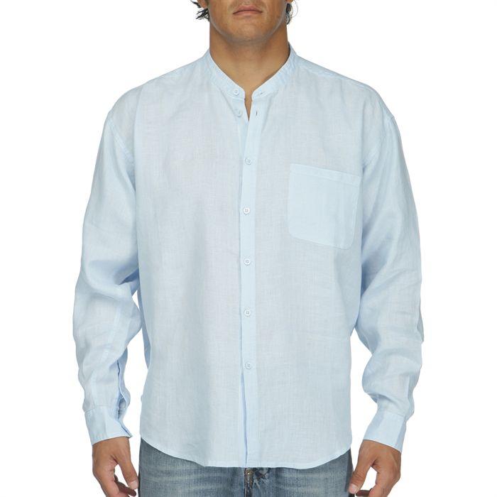lin homme Ciel Achat / Vente chemise chemisette Chemise 100% Lin