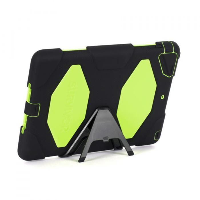 Coque Survivor iPad Air noir et citron Griffin Coque Survivor iPad