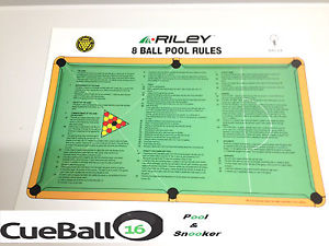 Officiel britannique 8 ball anglais des tables de billard