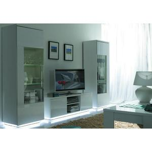 Salon complet blanc laque topiwall for Achat salon complet