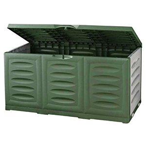 Coffre de rangement Hippo, imperméable, plastique, vert, 360 lit