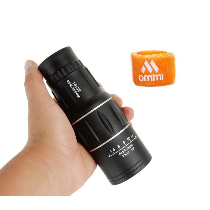 Télescope portable étanche Longue vue Monoculaire à Zoom 16×52 Dual