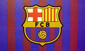 DRAPEAU OFFICIEL FC BARCELONE NEUF TAILLE 150X90 CM: Sports