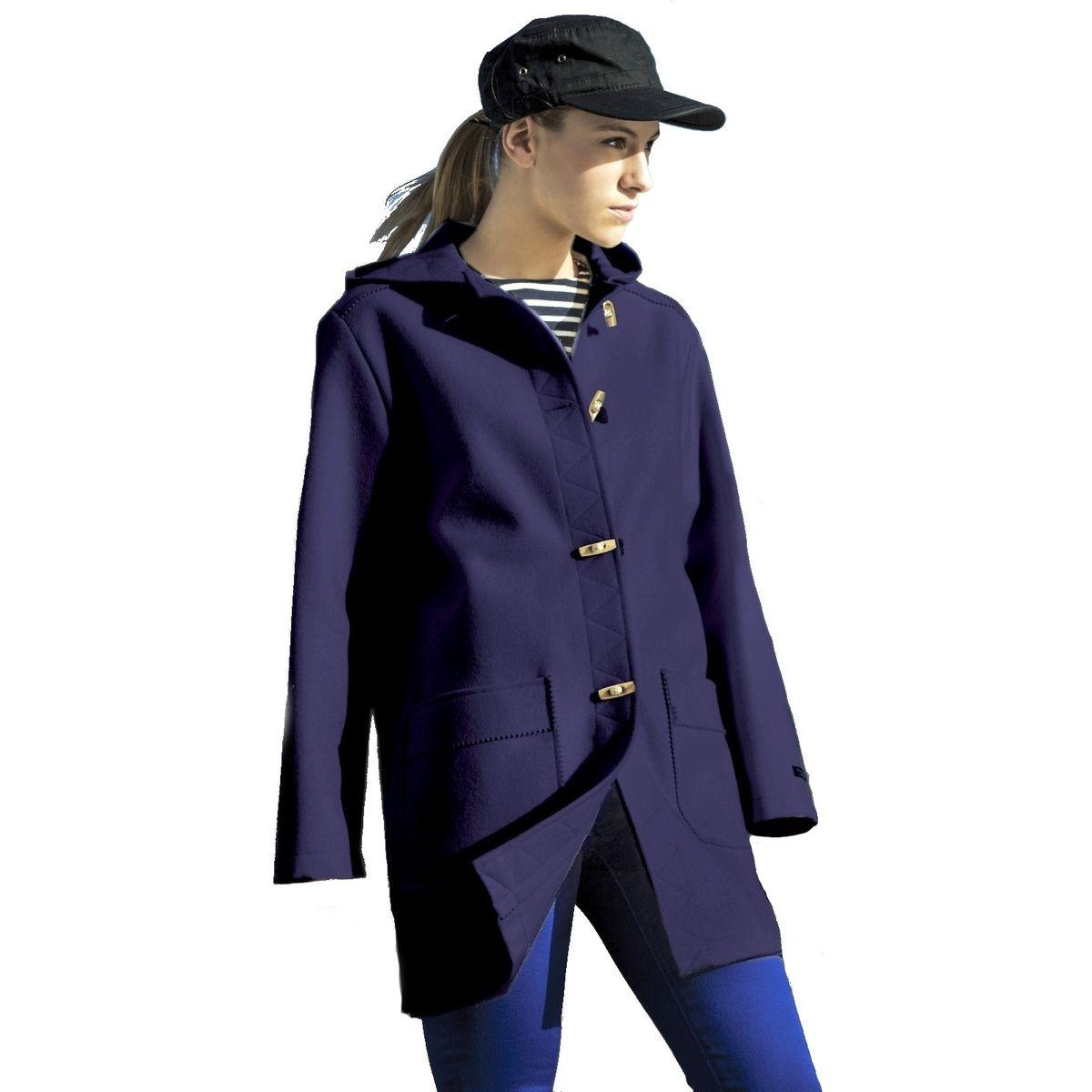 Caban Femme laine Made in France DALMARD MARINE Olympie bleu DALMARD