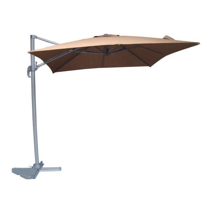 GUOEL parasol déporté 2,5m x 2,5m Achat / Vente parasol ombrage