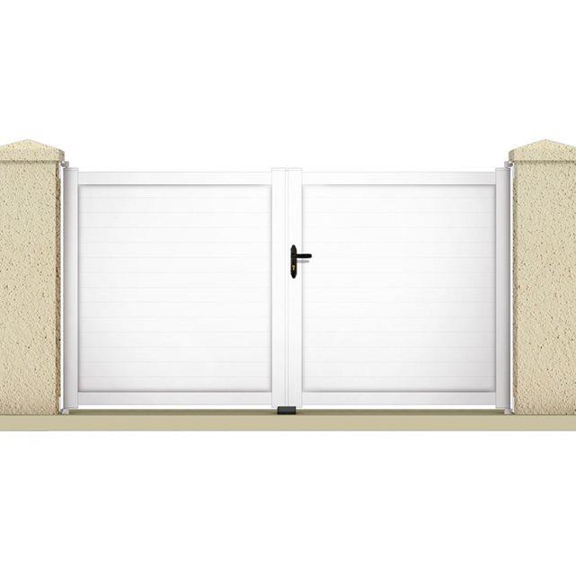 Portail à battant «ATLAS» 3.55 m PVC Coloris blanc