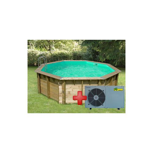 Pool Zen Spa Kit piscine bois Ocea ronde Ø5.10 x 1.20m liner