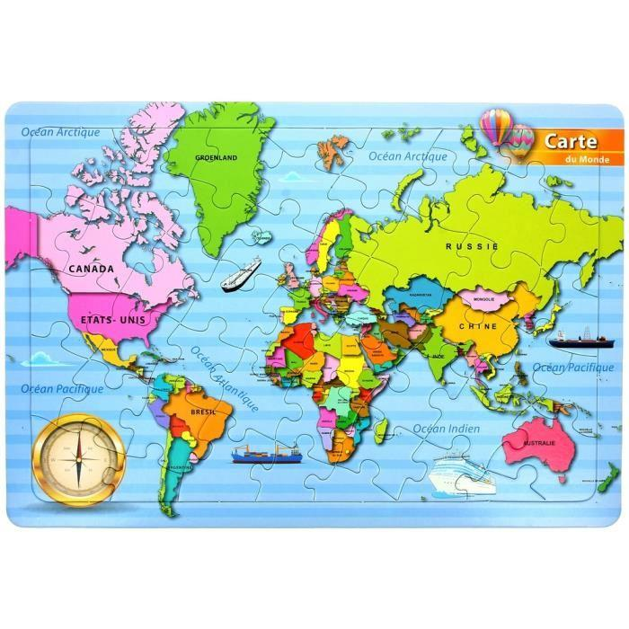 achat carte du monde avec pays my blog. Black Bedroom Furniture Sets. Home Design Ideas