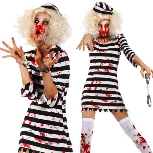 Maboobie Déguisement Hôtesse De L'air Femmes Costume Zombie