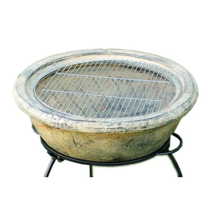 Chauffage exterieur brasero topiwall for Table brasero exterieur