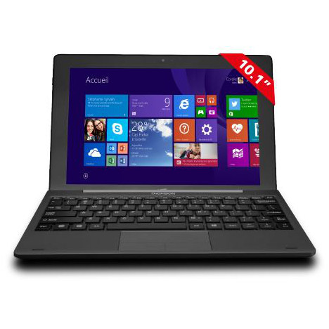 THOMSON Ordinateur portable / Tablette 2 en 1 Ecran tactile 10,1