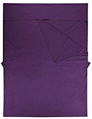 spacieux sac de couchage en coton peigné Premium, Double Drap de