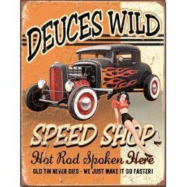 Plaque Métal Publicitaire Deuce Ford 32 Hot Rod Achat et vente