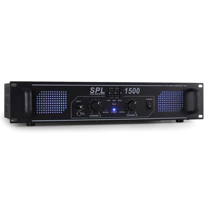 ampli sono stéréo HiHi Spl1500 EQ SD USB MP3 AUX ampli puissance