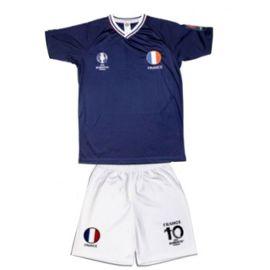Ensemble Short Et Maillot De Foot France Uefa Euro 2016 Enfant Bleu
