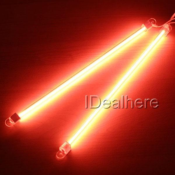 TUNING 2 Tube Barre Neon Cathode Froide Rouge 30cm 12V