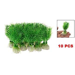 SODIAL(R) 10 x herbes/plantes aquatiques artificielles en plastique