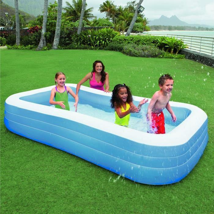 Piscine gonflable rectangulaire topiwall for Piscine gonflable intex