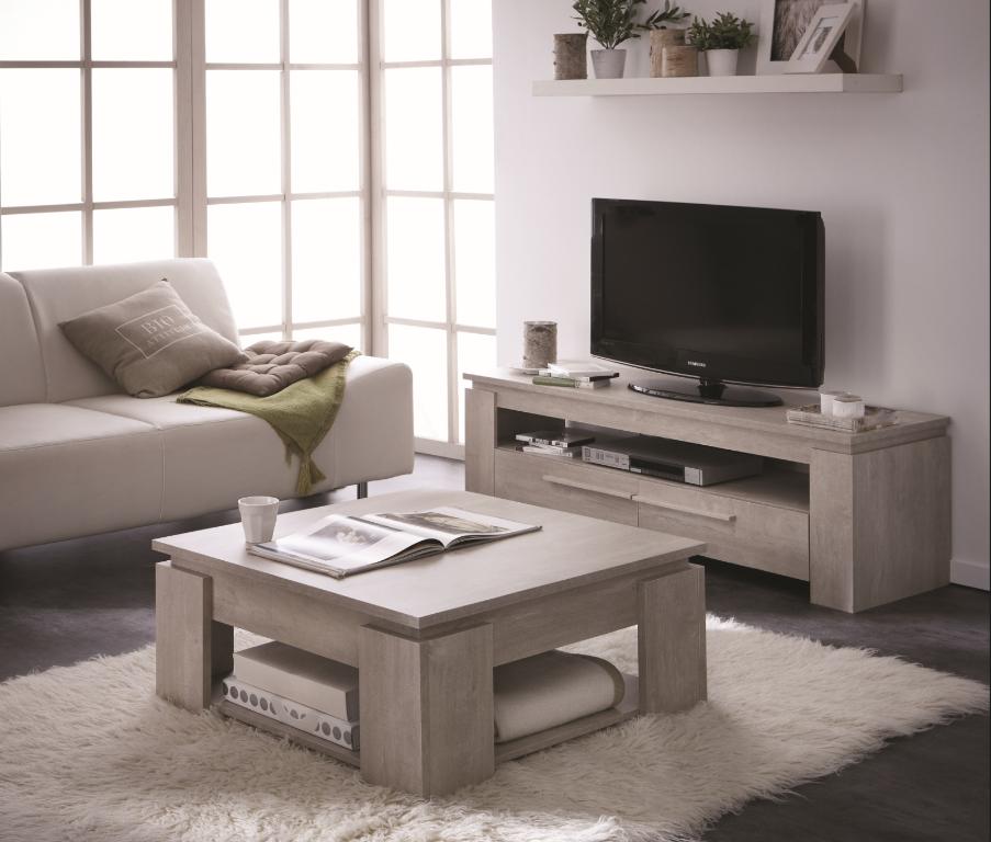 Ensemble table basse + meuble TV SEGUR 140cm Achat / Vente table