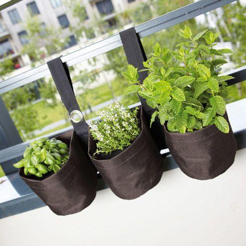 Jardinière/balconnière polyester à suspendre 50x13x35cm Balustra
