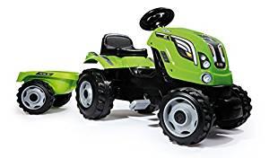 Smoby 710111 Tracteur Farmer XL + Remorque Vert: Jeux