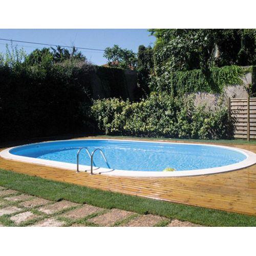 Gre Pool Piscine enterrée ovale avec filtre à sable et accessoires