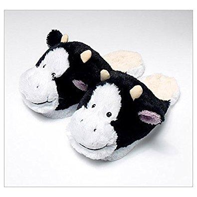 Greenlife Value Chaussons peluche vache tous doux taille unique 35 40