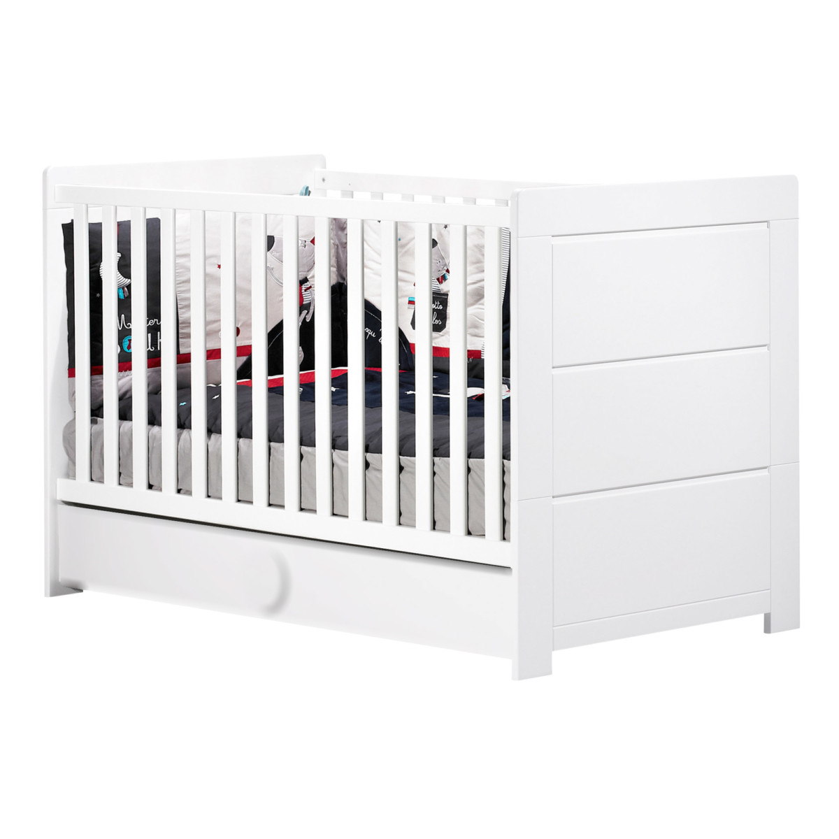 Zen Blanc lit évolutif Little Big Bed de Sauthon Signature, Lits