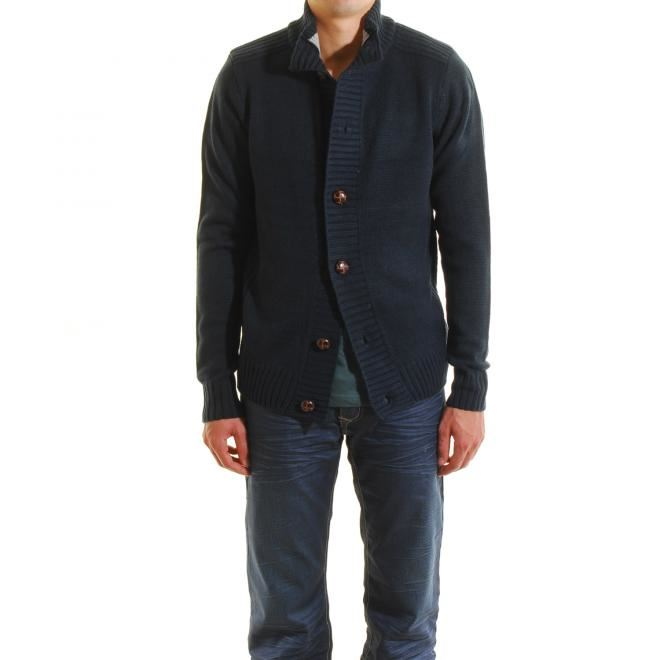 Gilet homme laine grosse maille