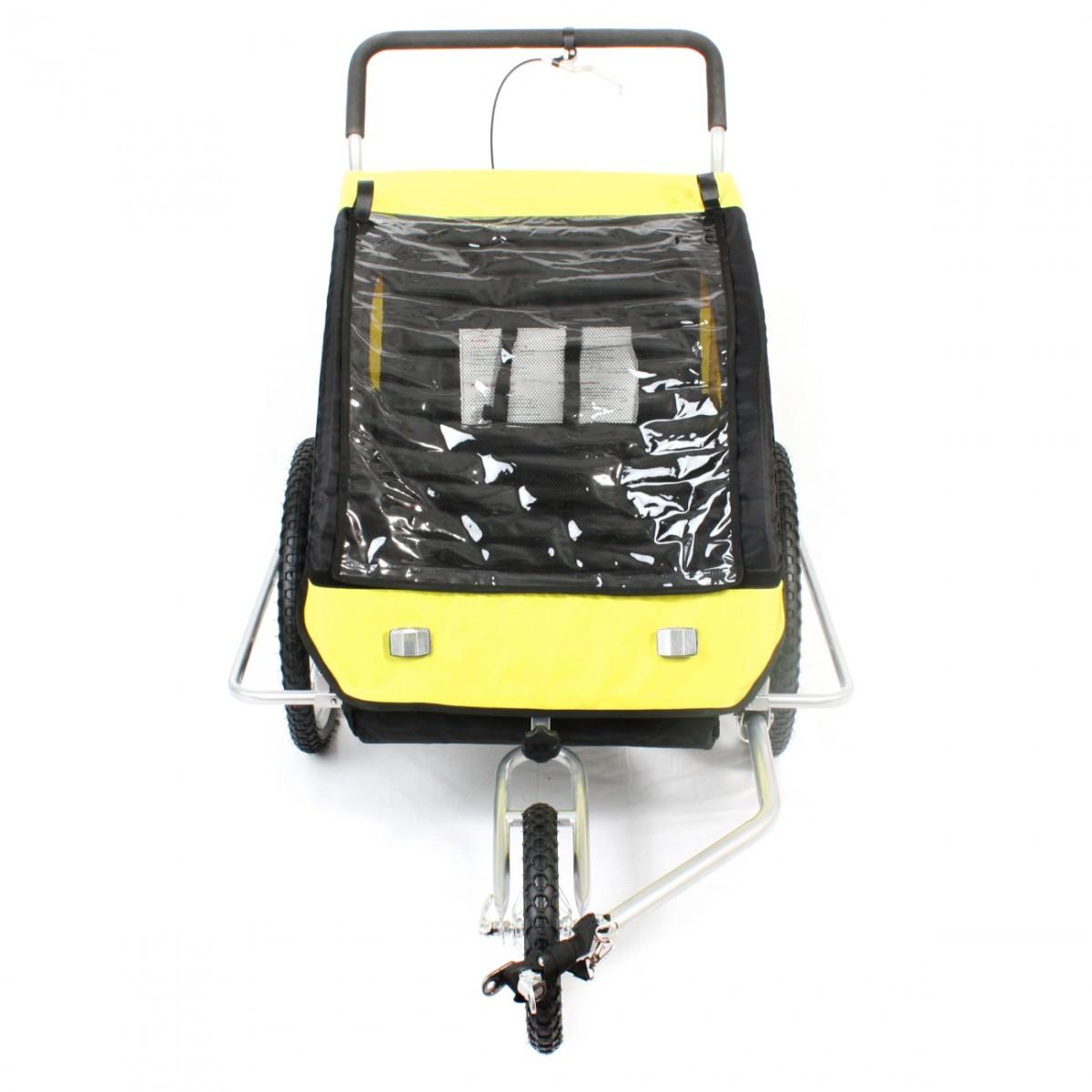 Remorque Vélo convertible Jogger 2en1 Enfants Amortisseur Transport