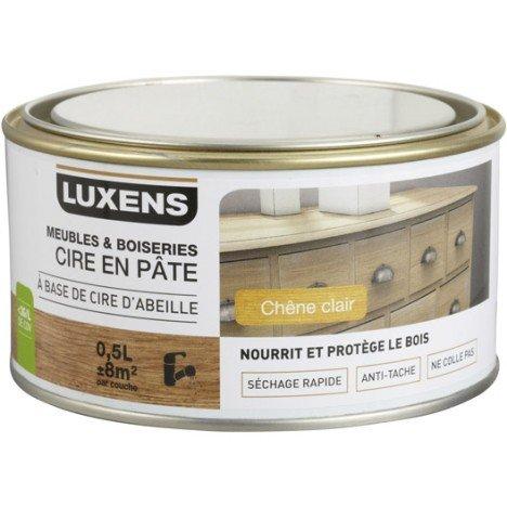 Cire en pâte meuble et objets LUXENS, 0.5 l, chêne clair | Leroy