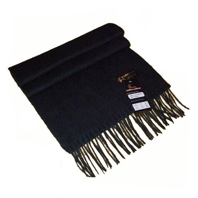 8ede484e5e6 Echarpe cachemire noire grande echarpe laine