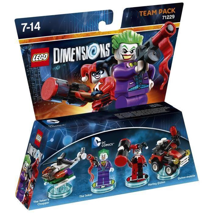 Figurines LEGO Dimensions The Joker et Harley Quinn DC Comics