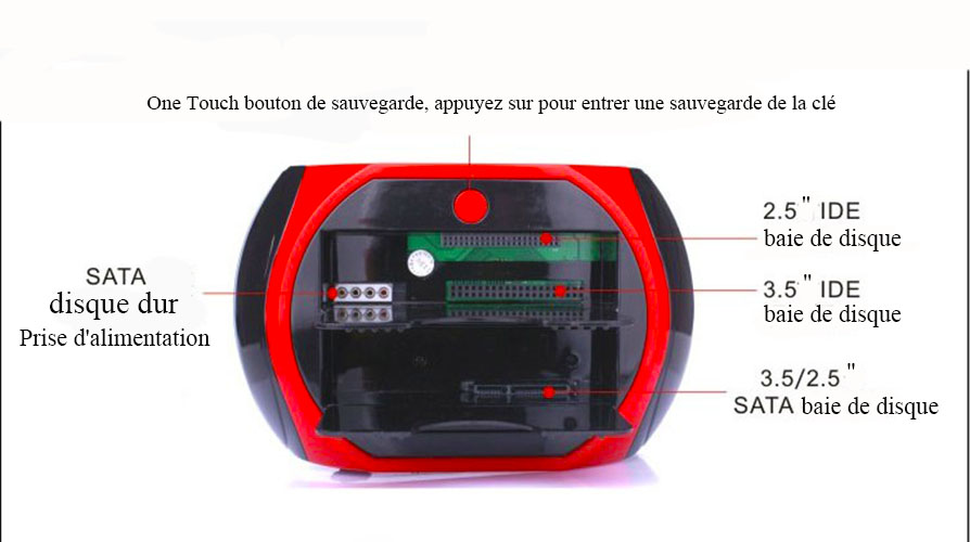 Tous IDE SATA USB Disque Dur docking station hdd Carte