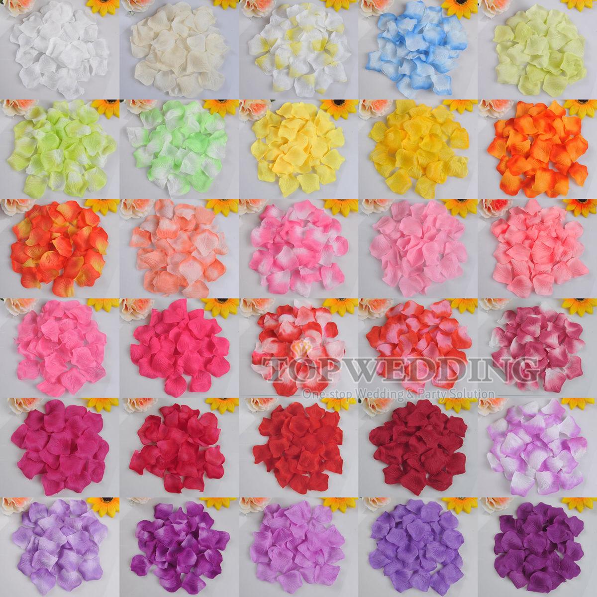 Pétales de Rose Fleur Décoration Lit Table Mariage Fête 30 Couleurs