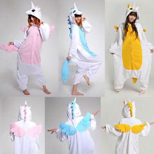 Kigurumi Cosplay Costume d'animal Grenouillère nuit Licorne