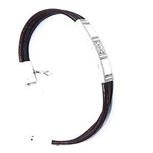 Bracelet ethnique argent martelé ajustable Laoula: Bijoux