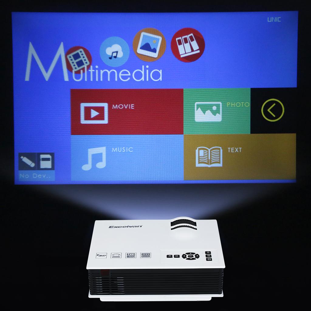 800Lumens LED Vidéoprojecteur Portable Mini HD Vidéo multimédia USB