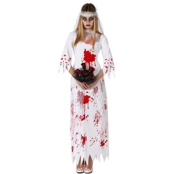Costume mariée ensanglantée halloween M/L 38/40 Achat / Vente