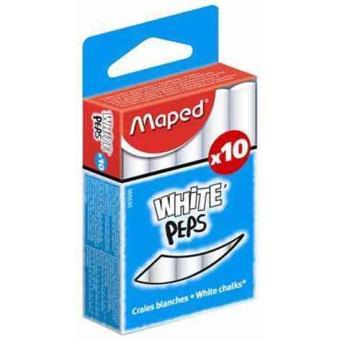 Craies scolaires Maped Boîte de 10 craies blanches sans poussière
